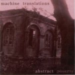 a album cover a Machine Translations Abstract Poverty Walker blog onealbumaday CD Review